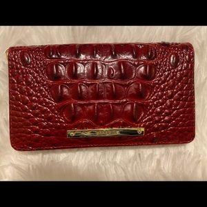 Red Brahmin wallet medium sized